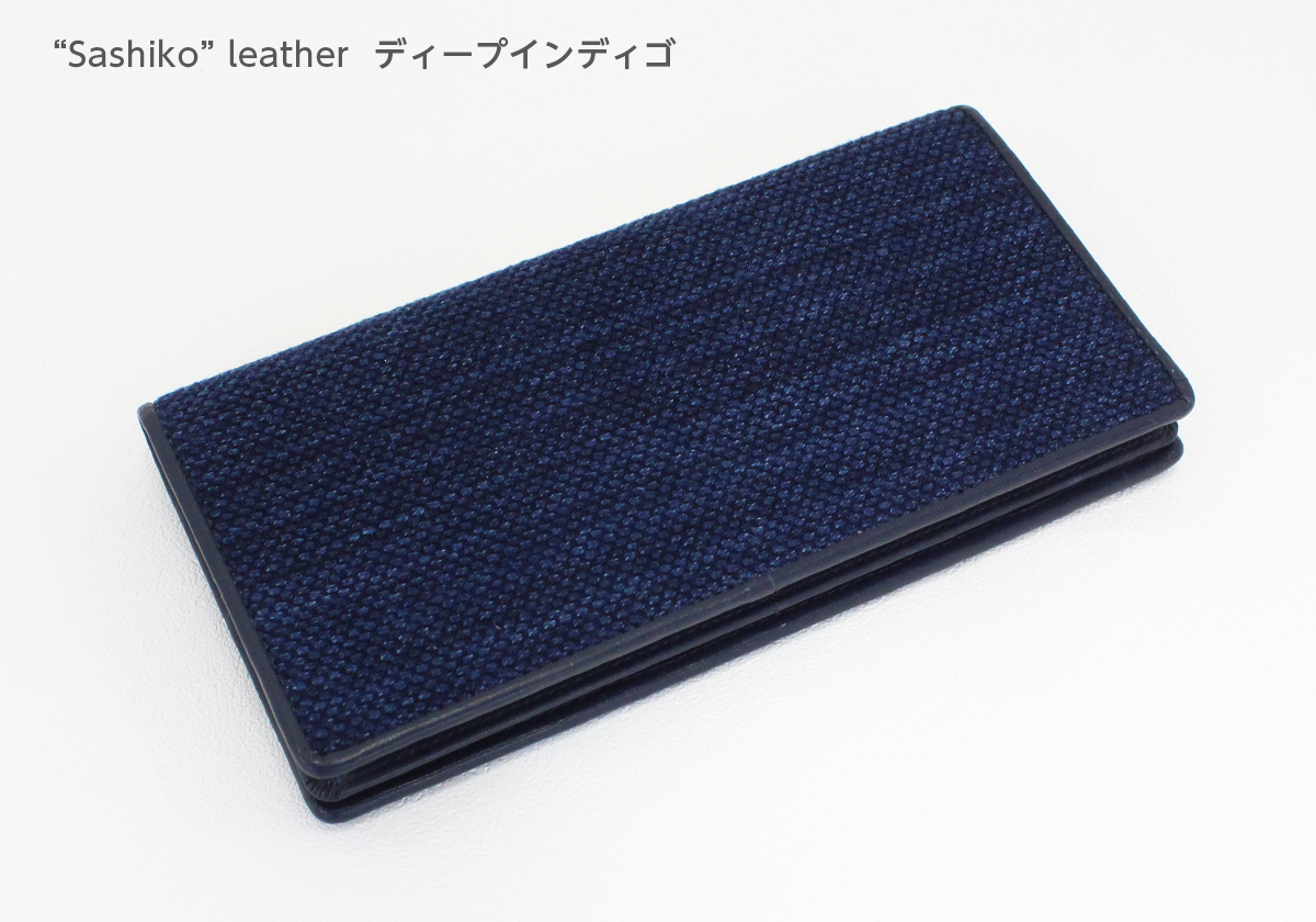 武州正藍染 Sashiko Wallet leather